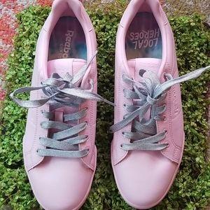 REEBOK Ballet Pink Low Classic Lace Tennis Shoes